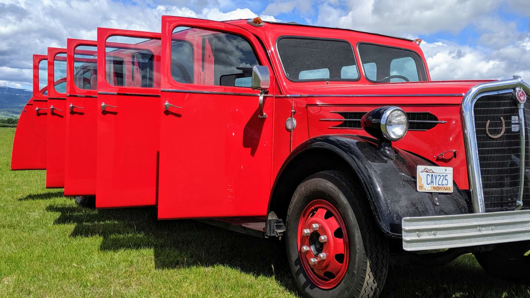 Legacy-Classic-Trucks-Mount-Rainier-Kenworth-Motor-Coach-Doors-Open-Profile