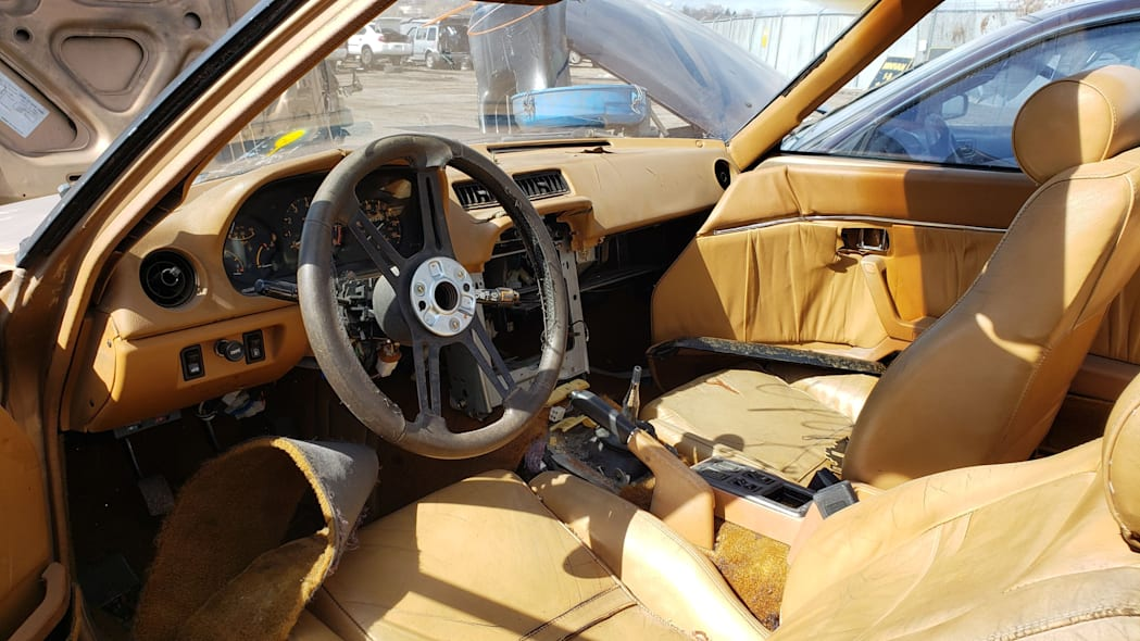 18 - 1982 Mazda RX-7 in Colorado Junkyard - photo by Murilee Martin
