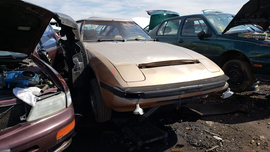 28 - 1982 Mazda RX-7 in Colorado Junkyard - photo by Murilee Martin