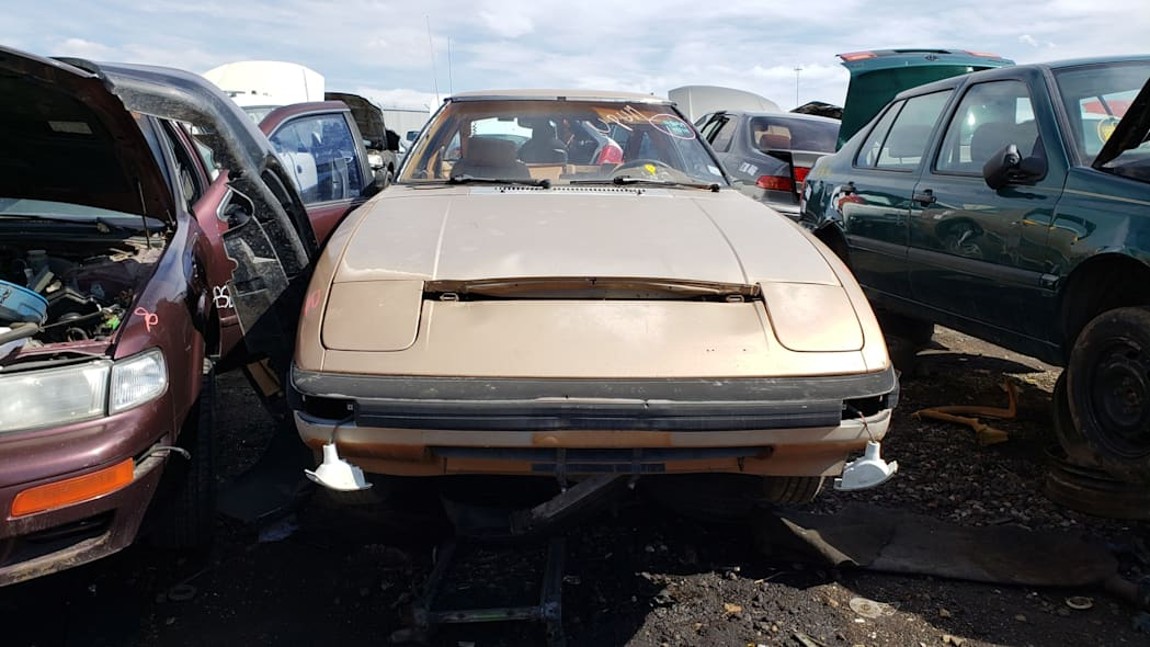 30 - 1982 Mazda RX-7 in Colorado Junkyard - photo by Murilee Martin