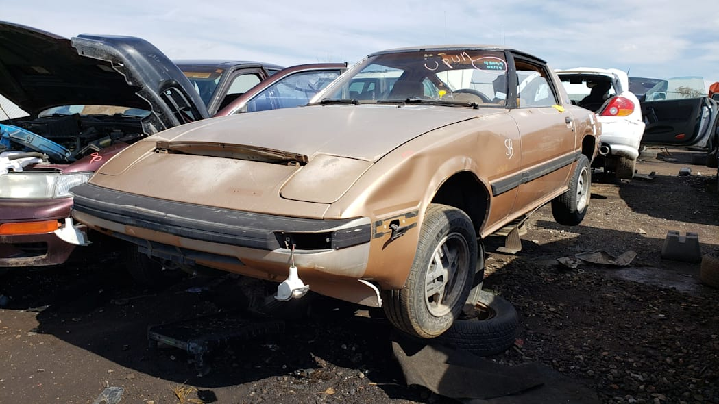 32 - 1982 Mazda RX-7 in Colorado Junkyard - photo by Murilee Martin