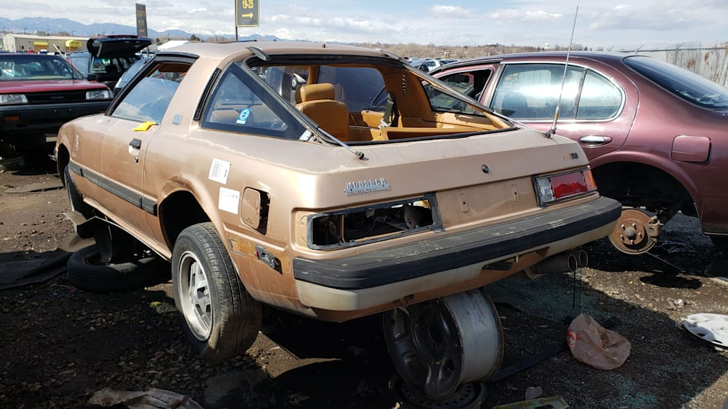 37 - 1982 Mazda RX-7 in Colorado Junkyard - photo by Murilee Martin