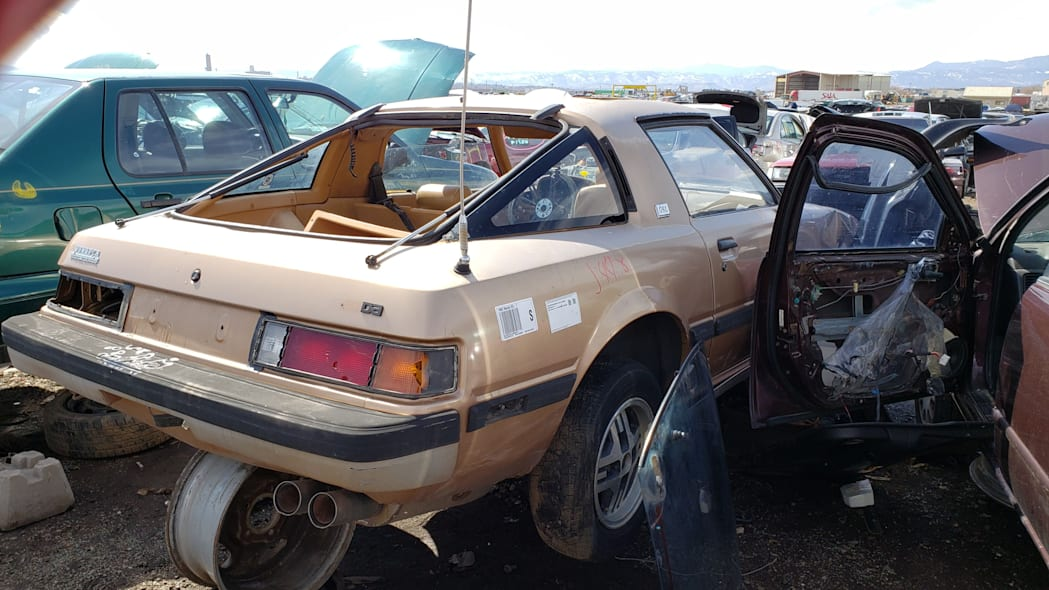 45 - 1982 Mazda RX-7 in Colorado Junkyard - photo by Murilee Martin
