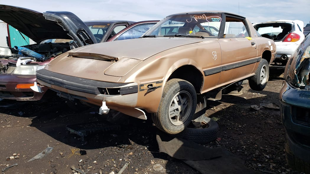 999 - 1982 Mazda RX-7 in Colorado Junkyard - photo by Murilee Martin
