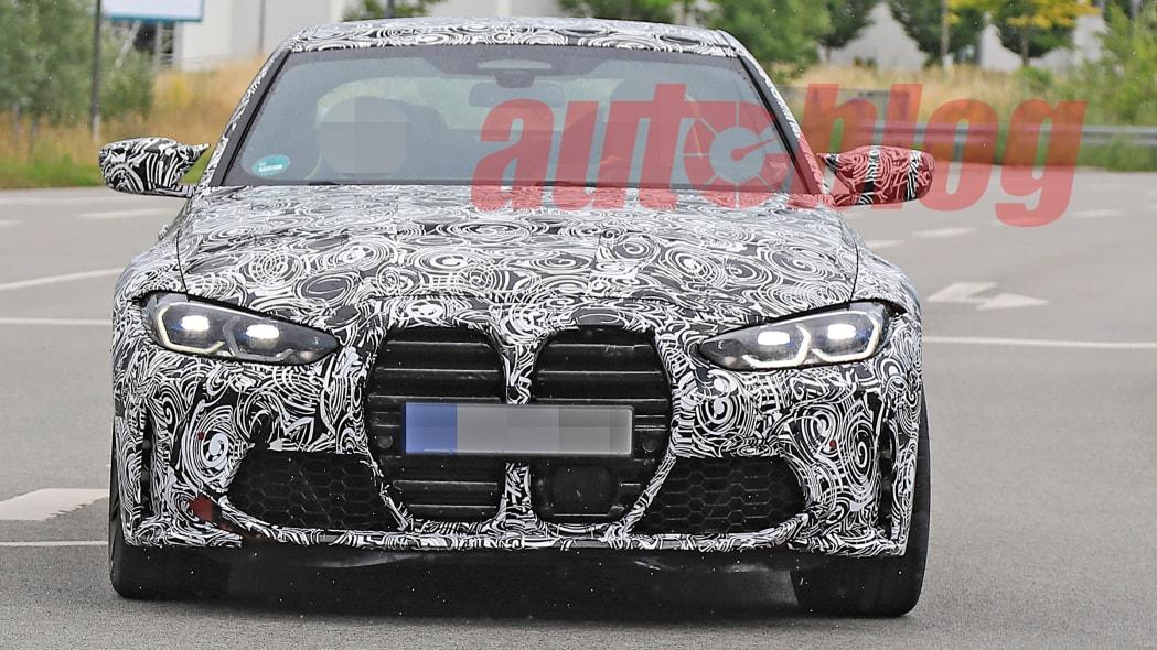 2021 BMW M3/M4 grille spy photos