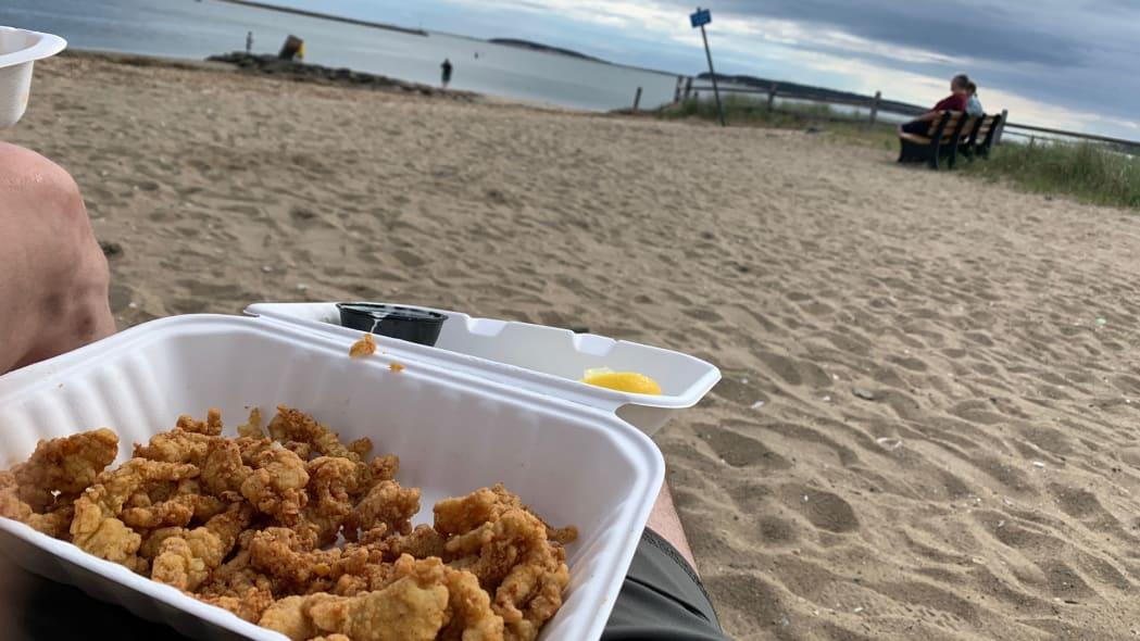 Cape Cod Road Trip fried food