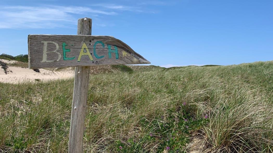 Cape Cod Road Trip beach sign