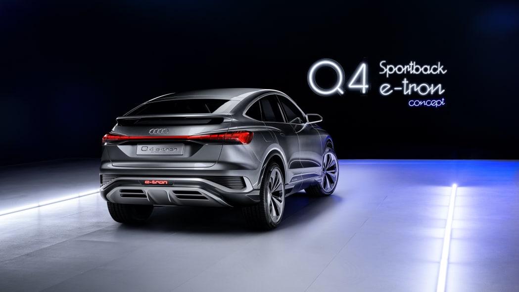 Audi Q4 Sportback E-Tron concept studio photo