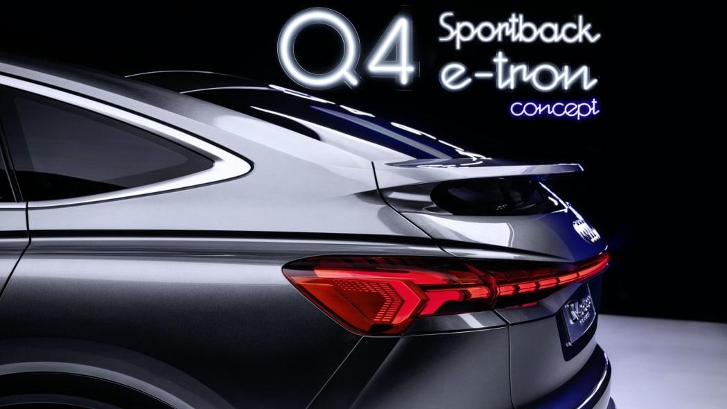 Audi Q4 Sportback E-Tron concept studio photo 24