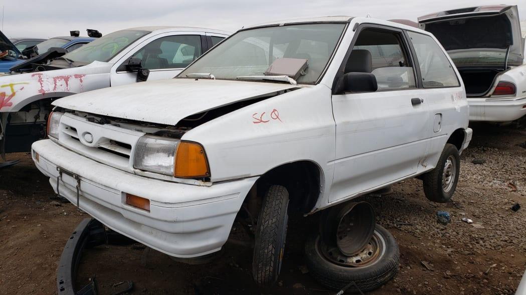 08 - 1991 Ford Festiva in Colorado Junkyard - photo by Murilee Martin