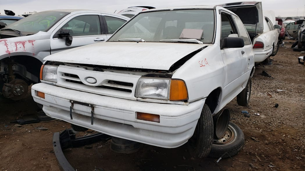 10 - 1991 Ford Festiva in Colorado Junkyard - photo by Murilee Martin