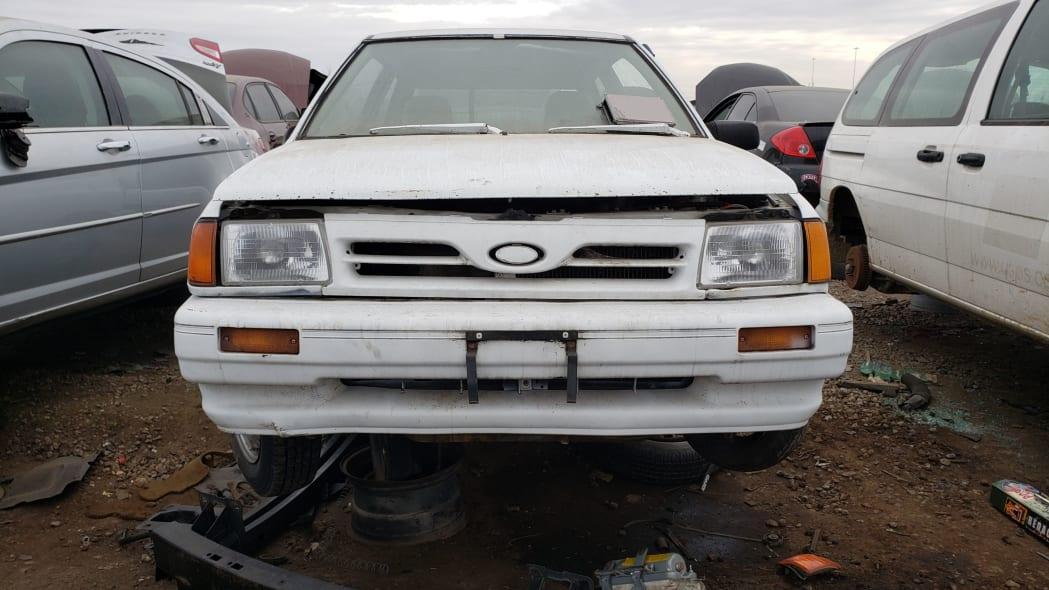 11 - 1991 Ford Festiva in Colorado Junkyard - photo by Murilee Martin