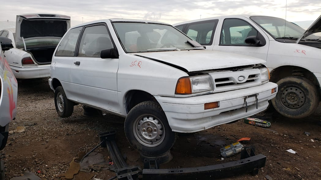 13 - 1991 Ford Festiva in Colorado Junkyard - photo by Murilee Martin