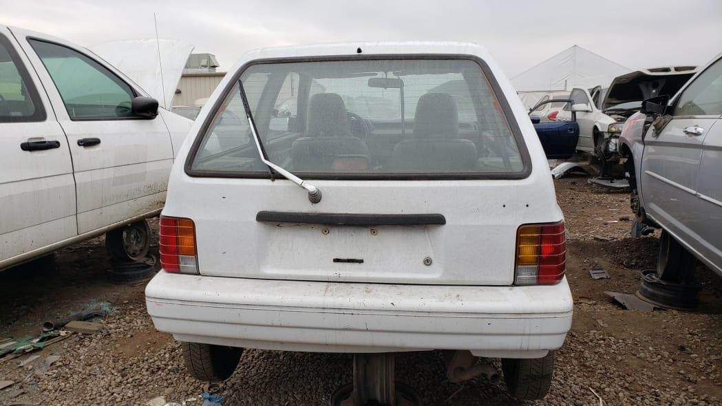 21 - 1991 Ford Festiva in Colorado Junkyard - photo by Murilee Martin