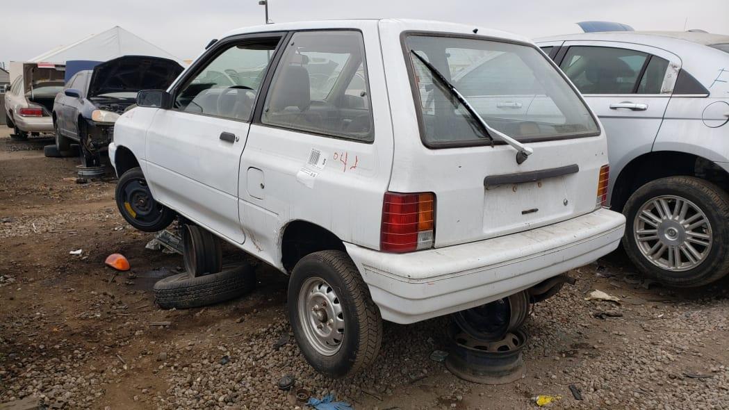 23 - 1991 Ford Festiva in Colorado Junkyard - photo by Murilee Martin