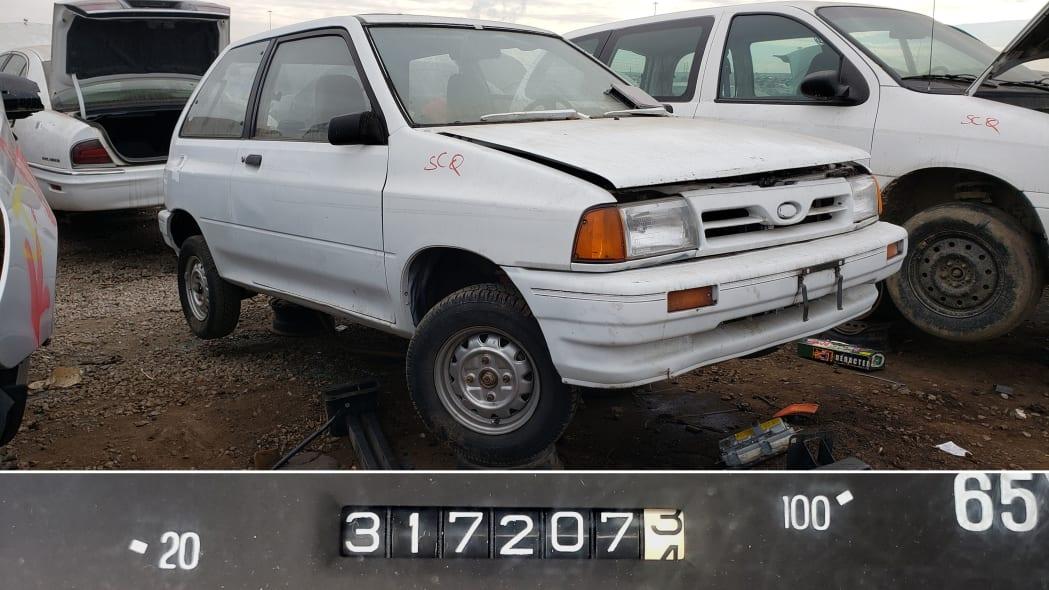 99 - 1991 Ford Festiva in Colorado Junkyard - photo by Murilee Martin