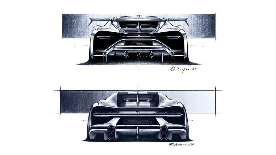 Bugatti Chiron Pur Sport and Super Sports 300+ design