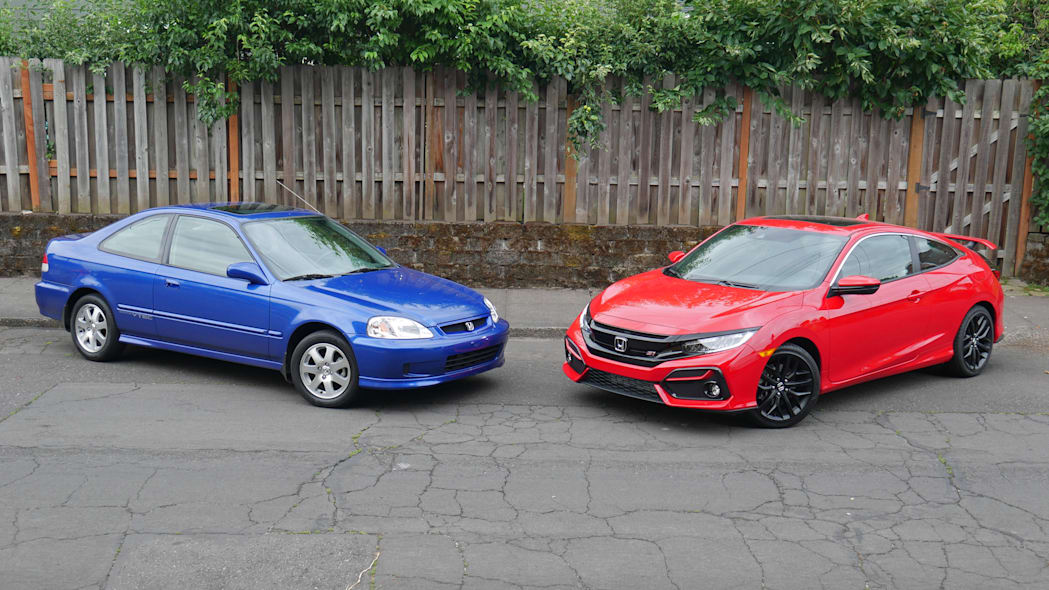 1999 Honda Civic Si and 2020 Honda Civic Si