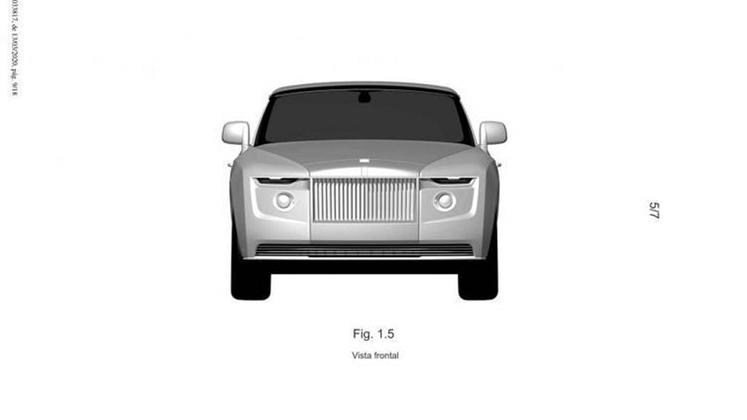 Rolls-Royce one-off model, patent images