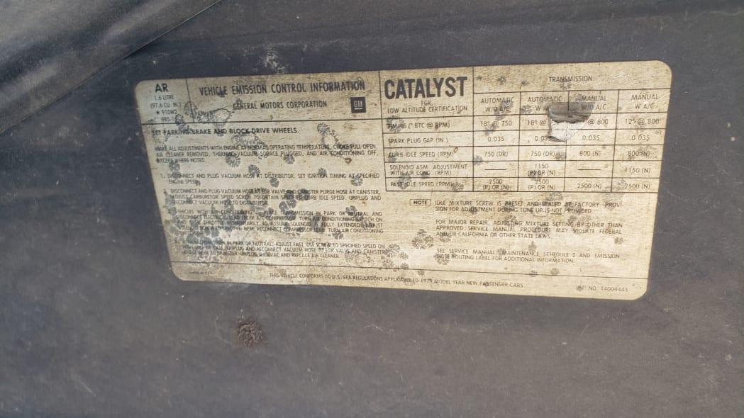 47 - 1979 Chevrolet Chevette in Colorado junkyard - Photo by Murilee Martin