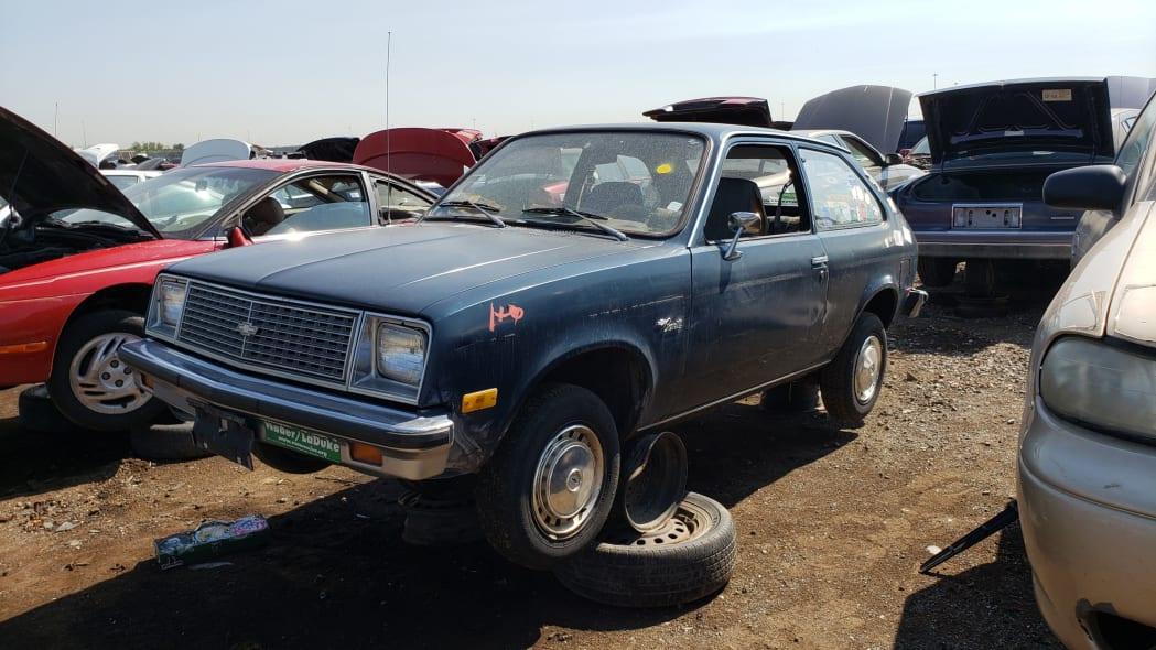 64 - 1979 Chevrolet Chevette in Colorado junkyard - Photo by Murilee Martin