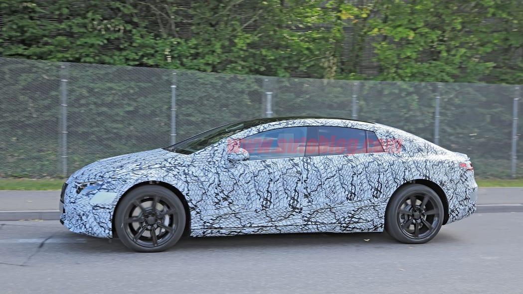 Mercedes-Benz EQS spied