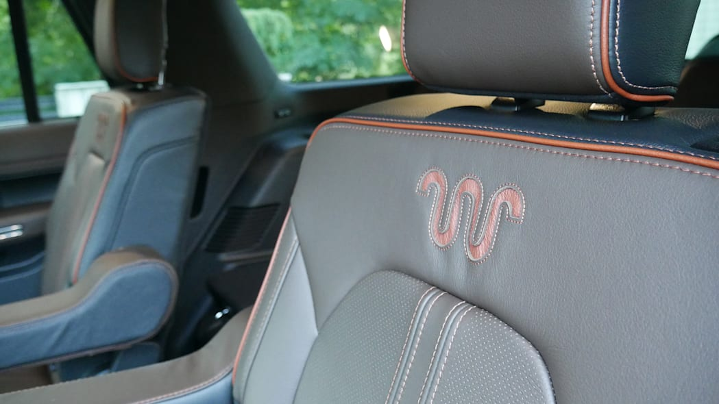 2020 Ford Expedition King Ranch seat logo