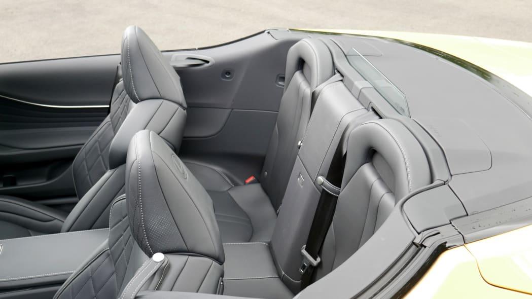 2021 Lexus LC 500 Convertible back seat