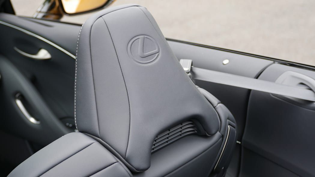 2021 Lexus LC 500 Convertible neck heater back