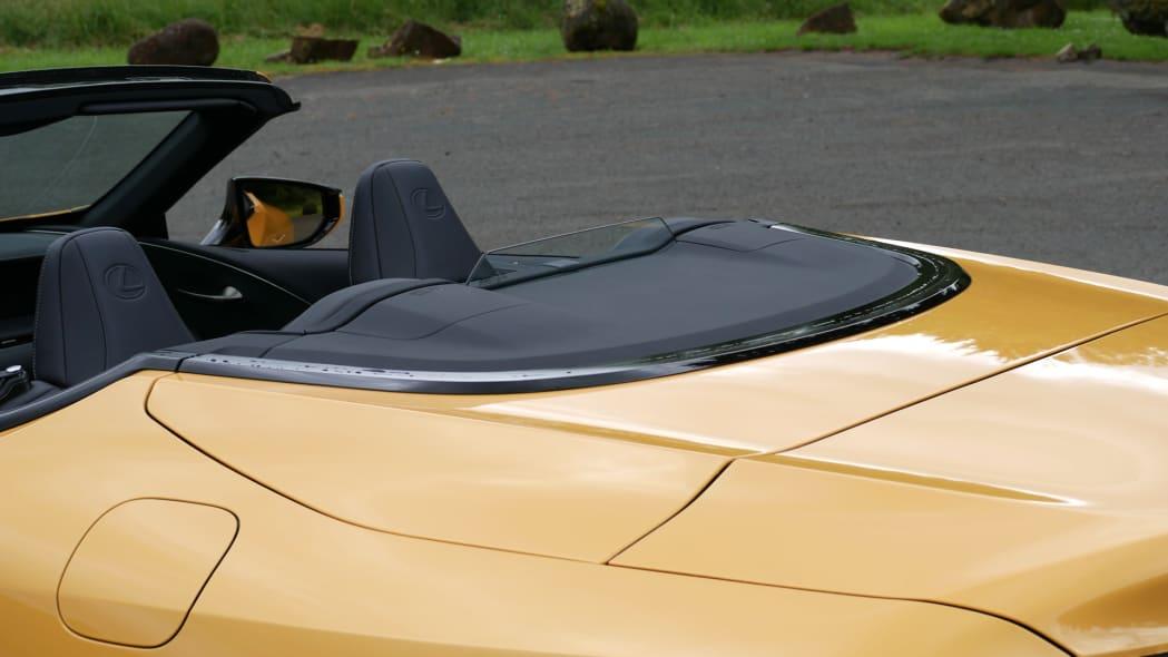 2021 Lexus LC 500 Convertible rear deck close