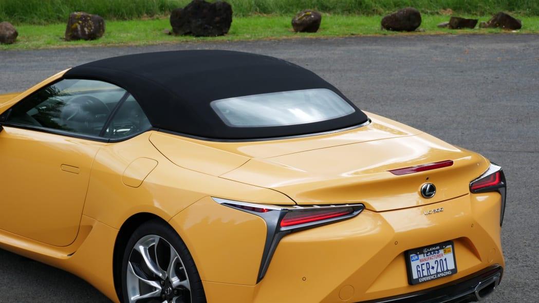2021 Lexus LC 500 Convertible rear deck