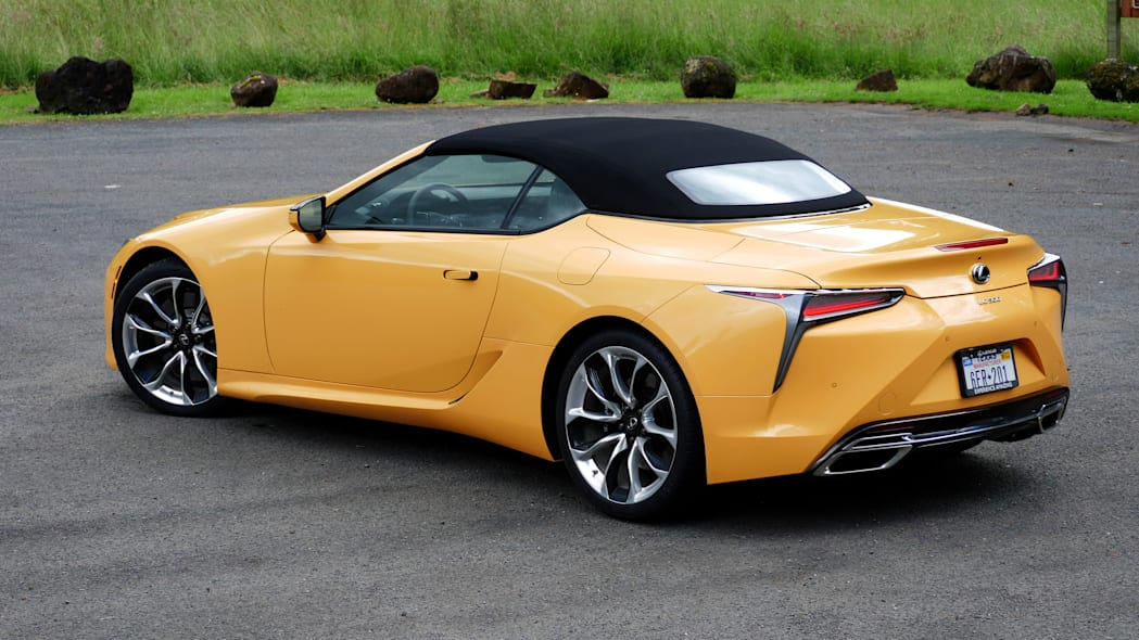 2021 Lexus LC 500 Convertible roof up rear 34