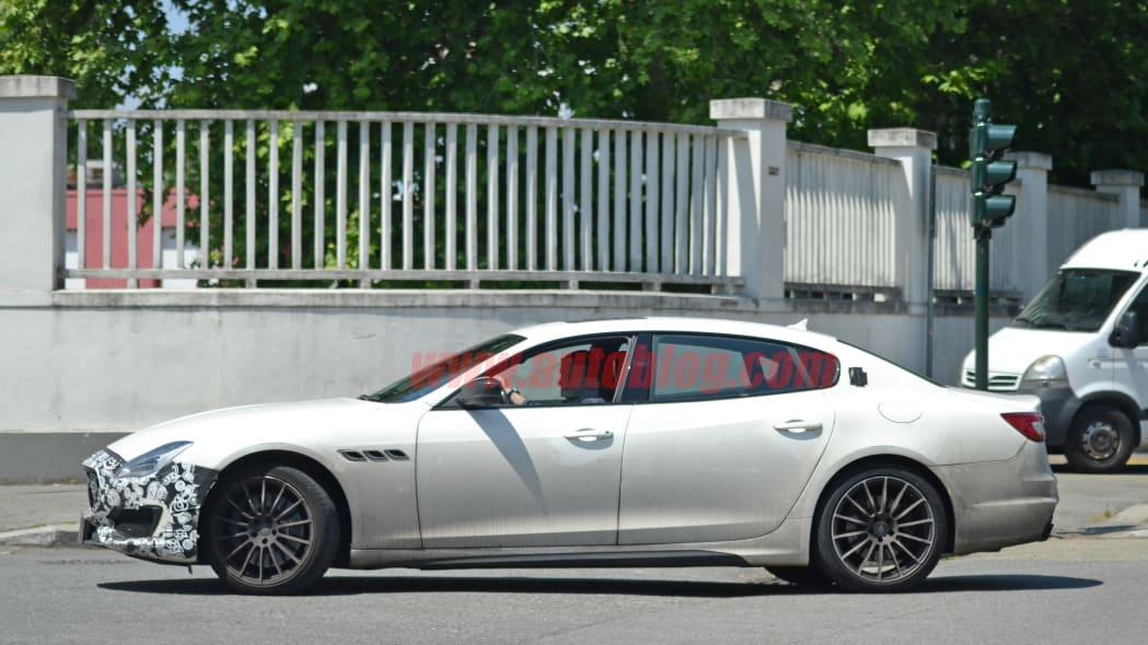 2021 maserati quattroporte facelift spied with minor