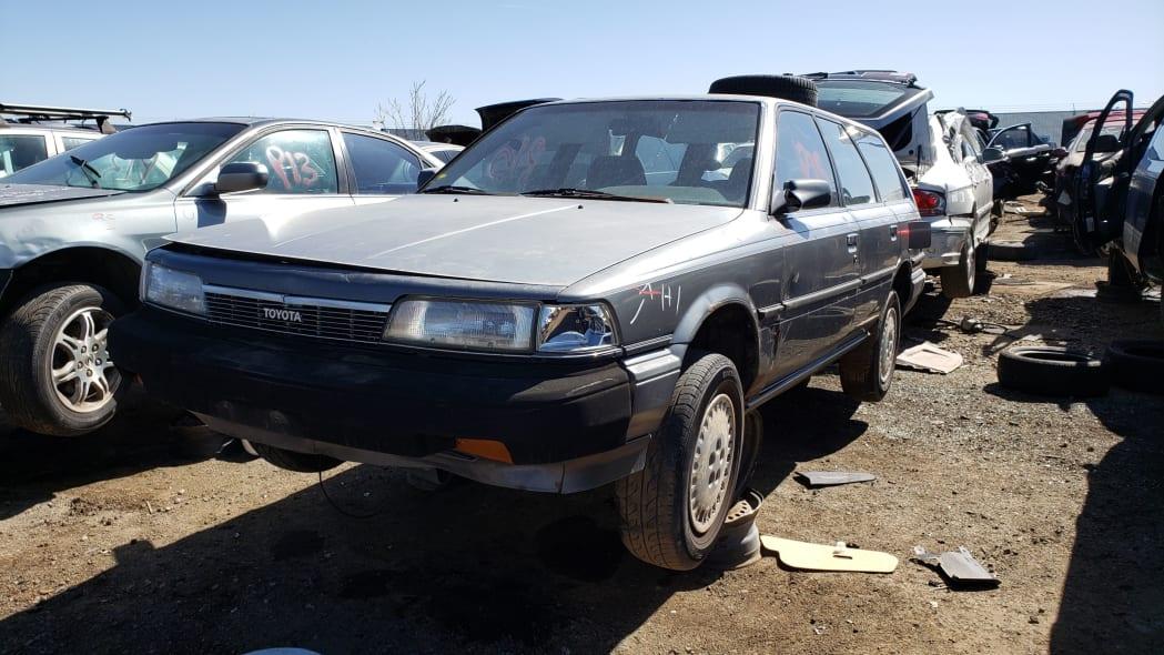 29 - 1987 Toyota Camry Wagon in Colorado junkyard - Photo by Murilee Martin
