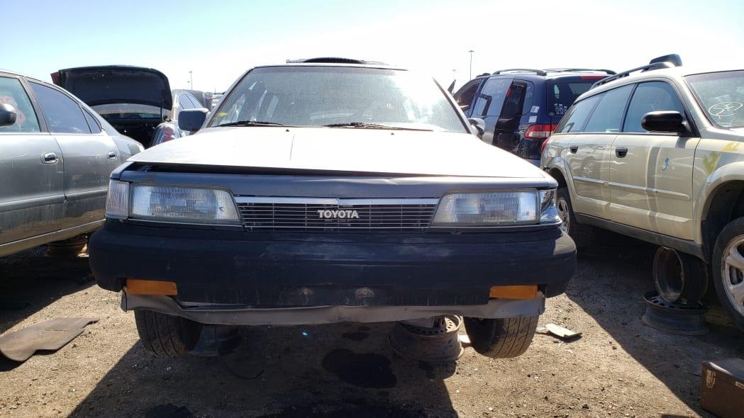 31 - 1987 Toyota Camry Wagon in Colorado junkyard - Photo by Murilee Martin
