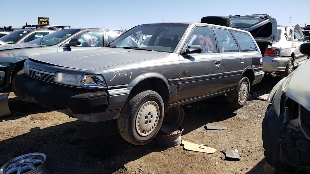 99 - 1987 Toyota Camry Wagon in Colorado junkyard - Photo by Murilee Martin