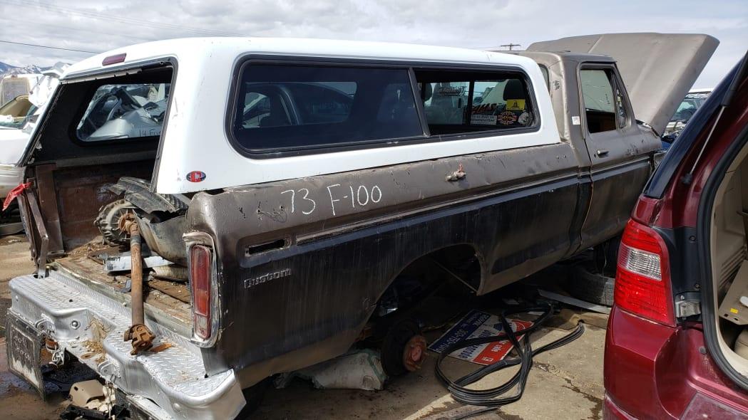 55 - 1973 Ford F-100 in Colorado junkyard - Photo by Murilee Martin
