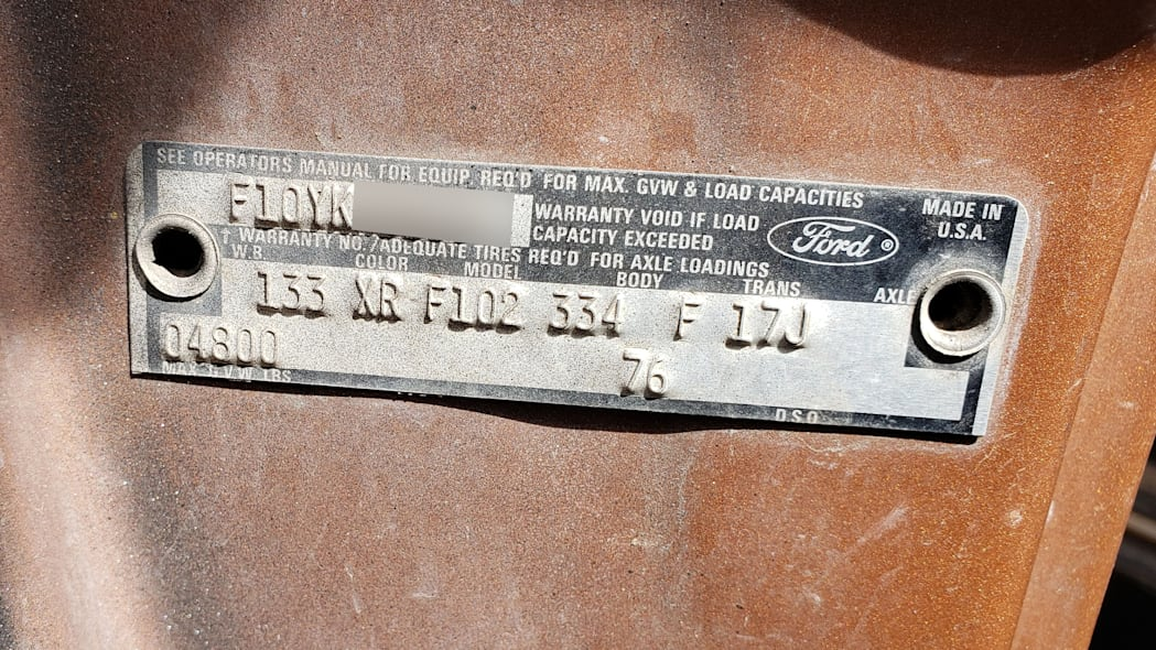78 - 1973 Ford F-100 in Colorado junkyard - Photo by Murilee Martin