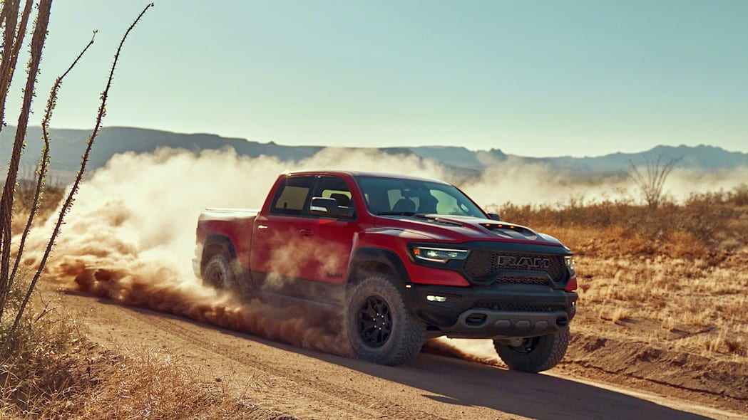 2021 Ram 1500 TRX front 3/4 in motion
