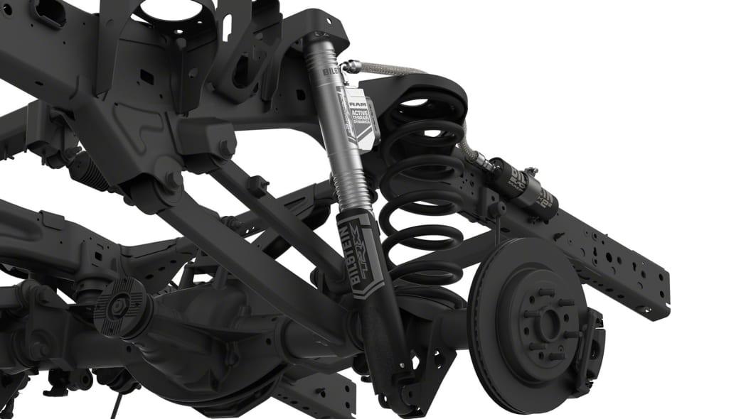 2021 Ram 1500 TRX rear suspension on frame