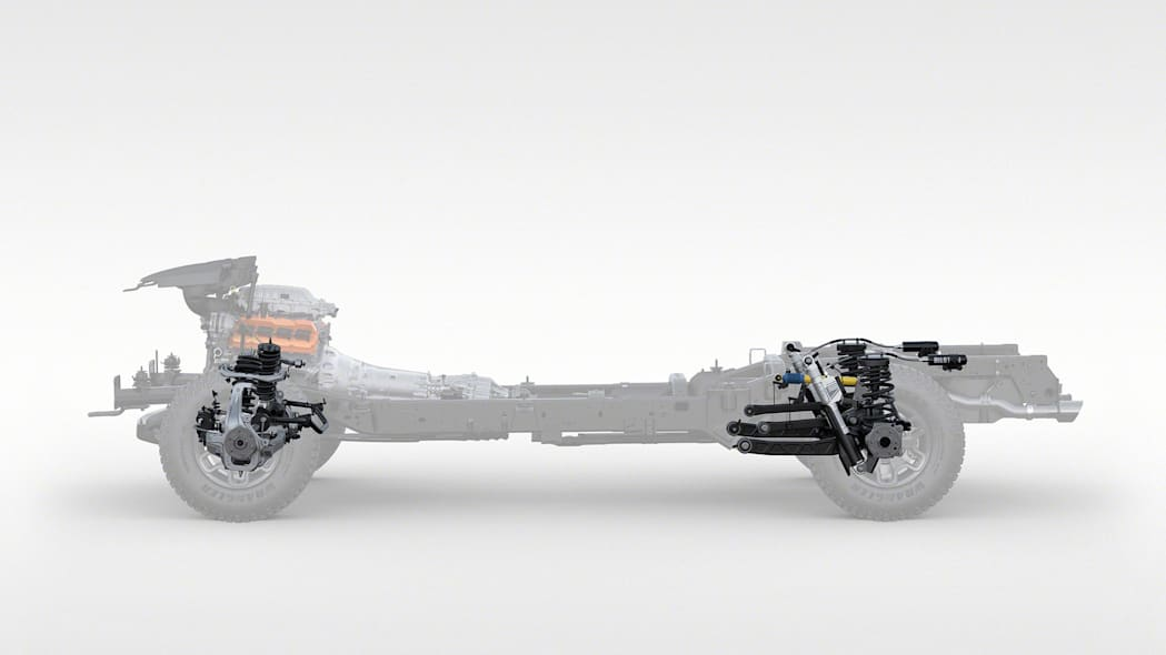 2021 Ram 1500 TRX chassis with suspension