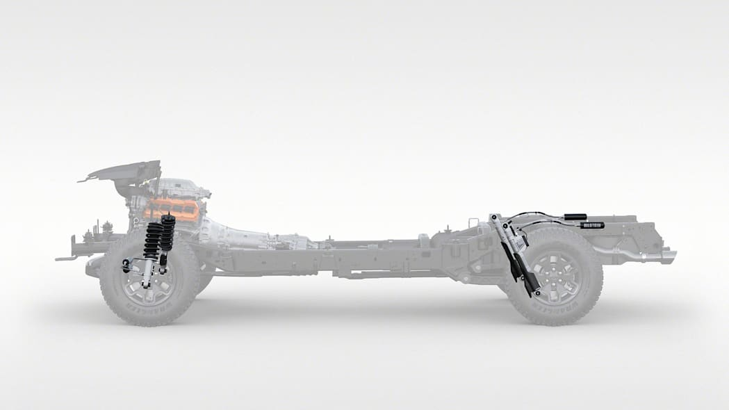 2021 Ram 1500 TRX chassis with shocks
