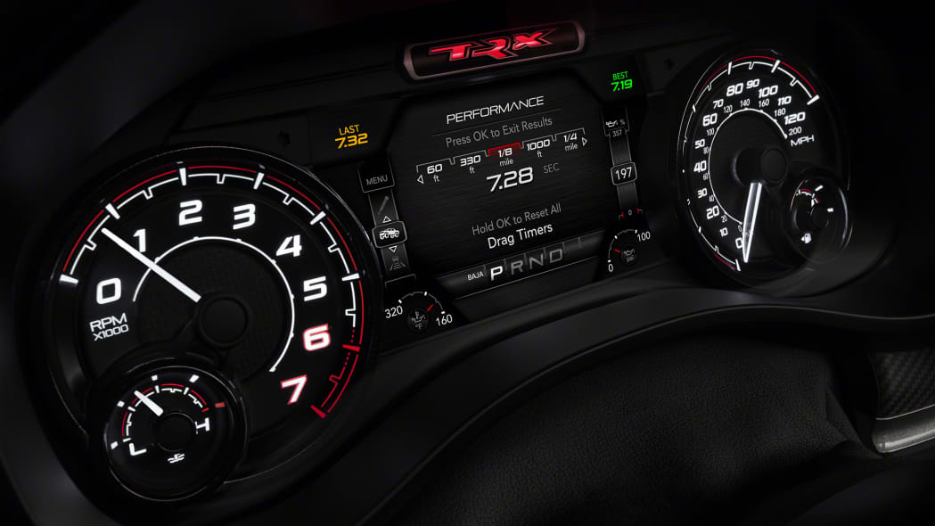 2021 Ram 1500 TRX performance timer