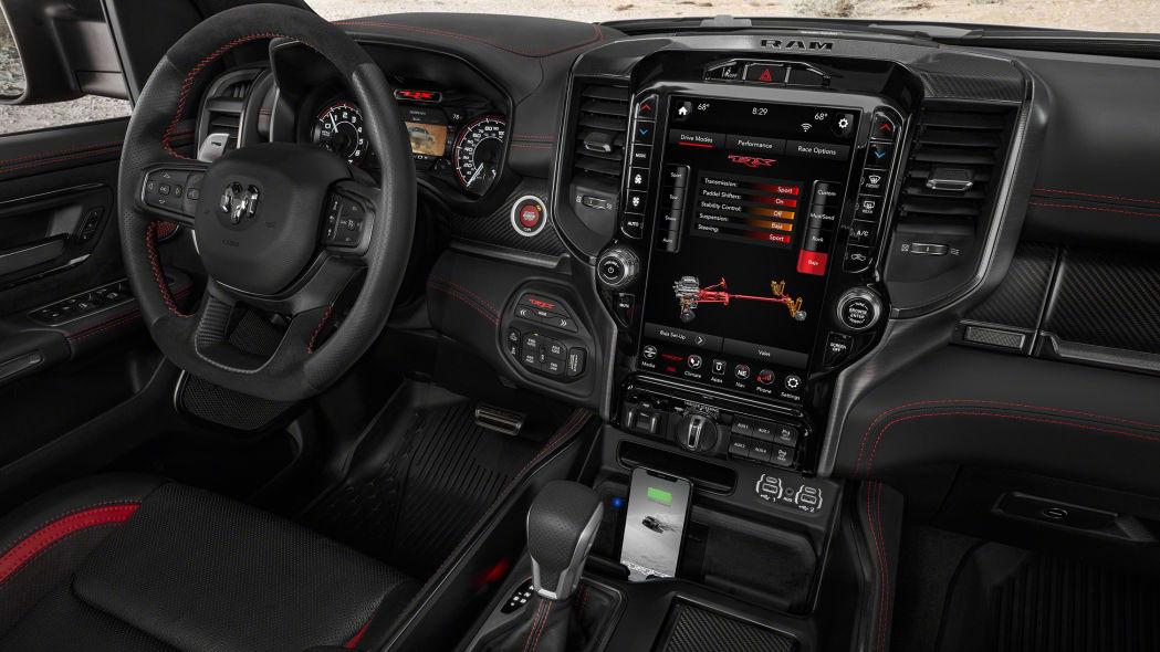 2021 Ram 1500 TRX interior with custom drive mode screen