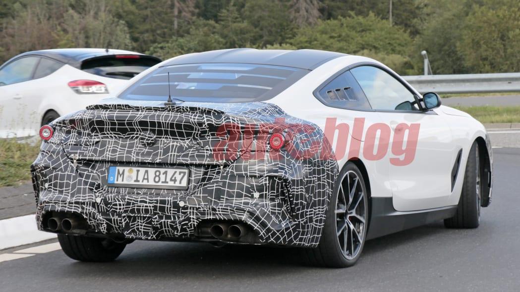 Mid-engine BMW M8 mule spy photos