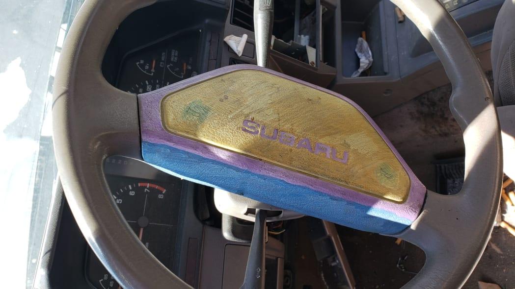 12 - 1988 Subaru GL Sedan in Colorado junkyard - photo by Murilee Martin