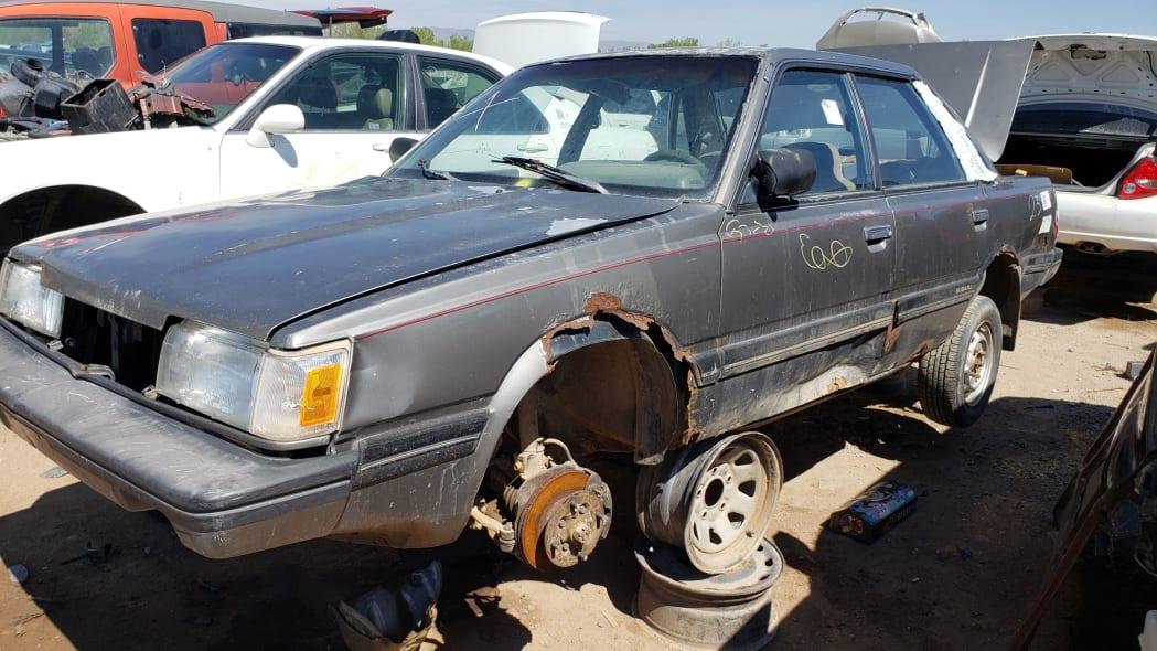 35 - 1988 Subaru GL Sedan in Colorado junkyard - photo by Murilee Martin