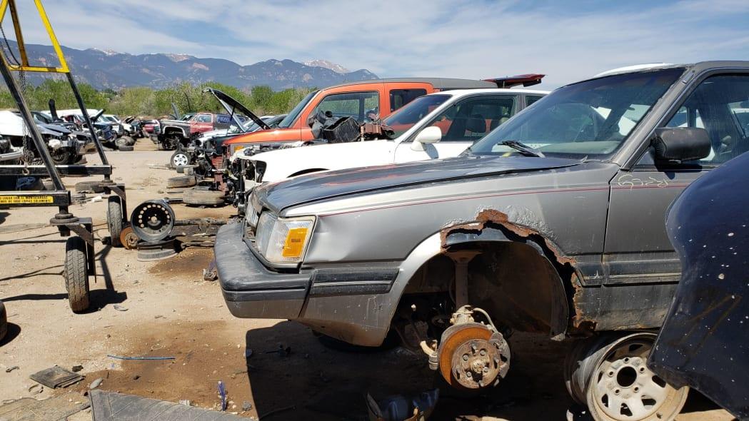 37 - 1988 Subaru GL Sedan in Colorado junkyard - photo by Murilee Martin