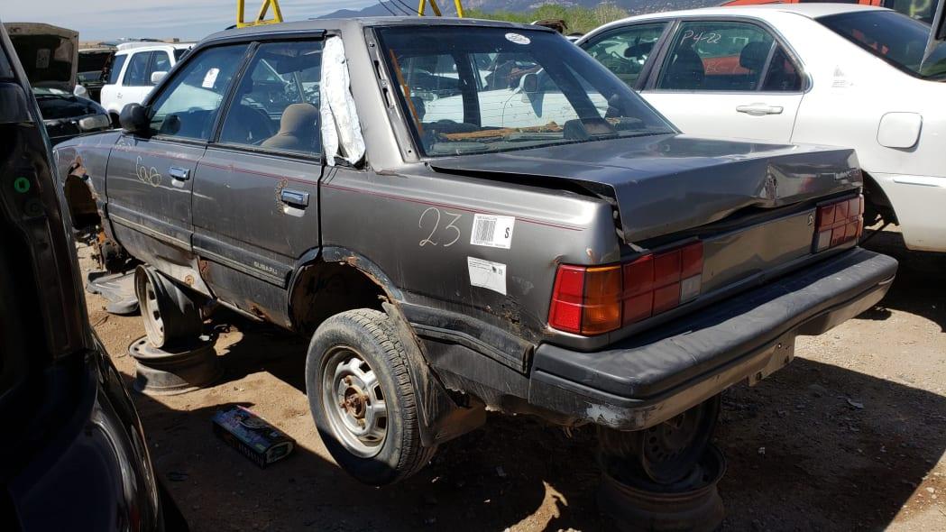 55 - 1988 Subaru GL Sedan in Colorado junkyard - photo by Murilee Martin