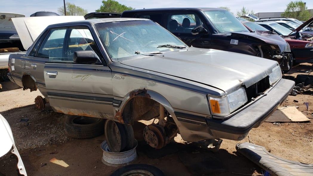999 - 1988 Subaru GL Sedan in Colorado junkyard - photo by Murilee Martin
